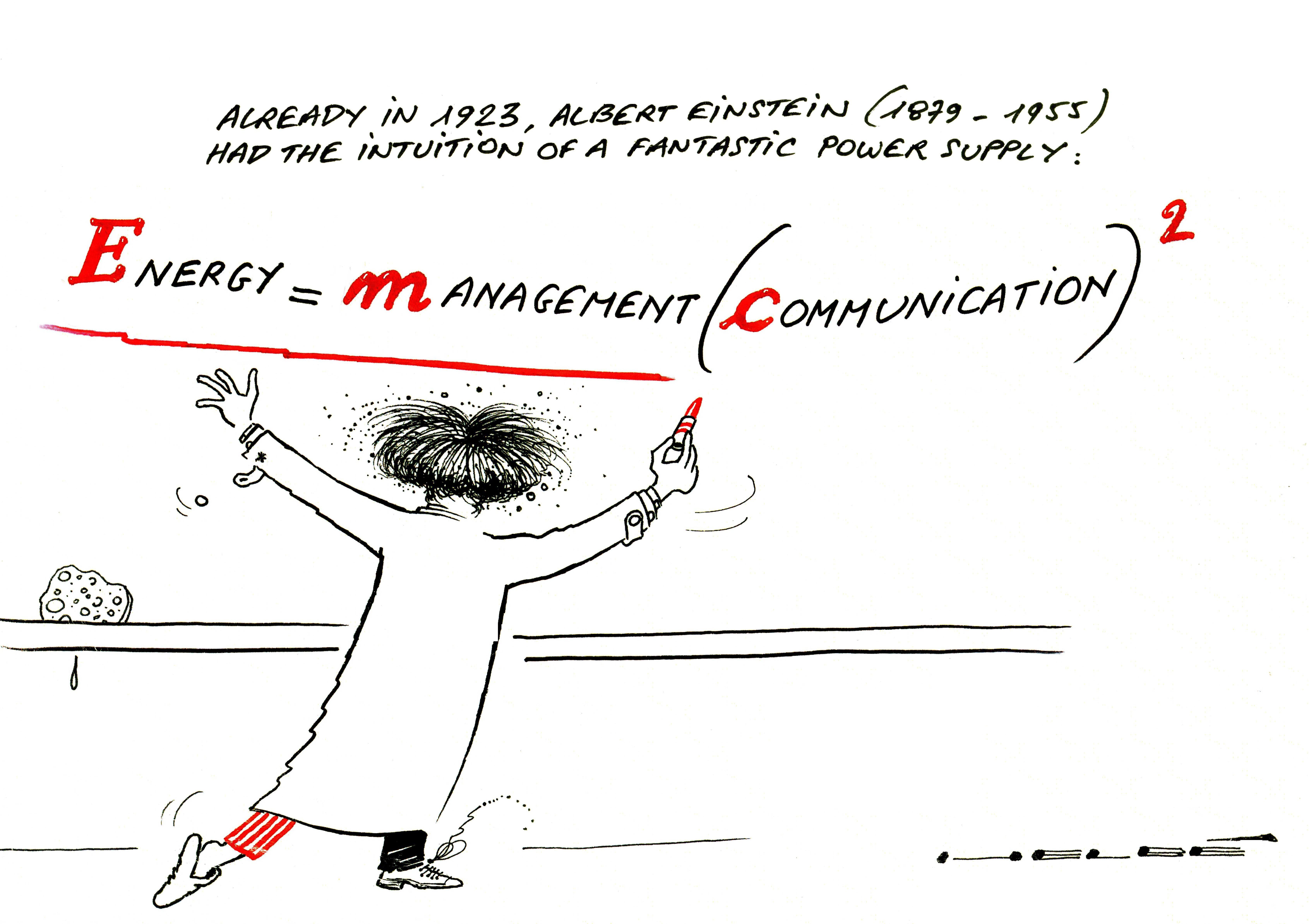 Energy = Management(Communication)²
